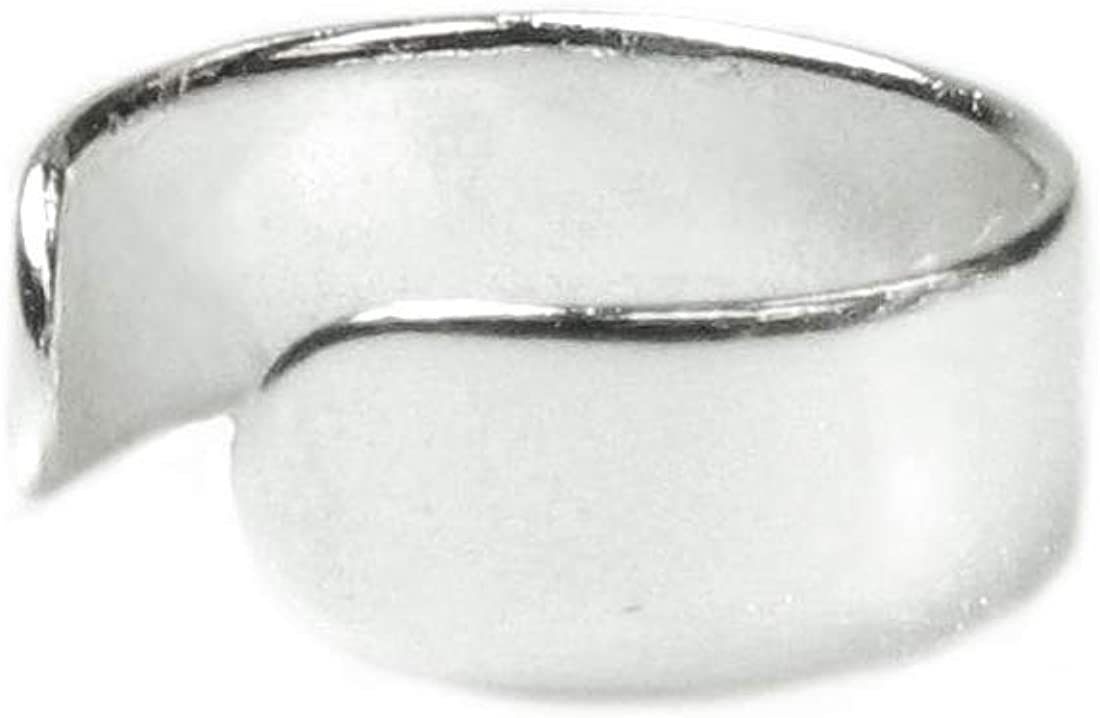 Sterling Silver Round Plain Ring Cuff Earring 35% OFF Nippon regular agency Wrap Clip-on