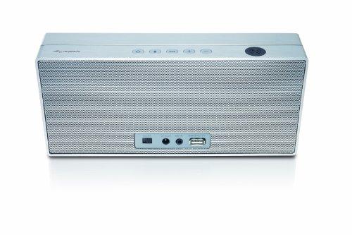 Loewe Speaker 2go portabler 2.1 Bluetooth Lautsprecher (40 Watt, Bluetooth, NFC, A2DP, apt-X, Freichsprecheinrichtung) silber