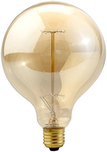 Luminea Glühdraht Lampe: Vintage-Globe-Schmucklampe mit gitterförmigem Glühdraht, E27-Fassung (Glühbirne Draht sichtbar)
