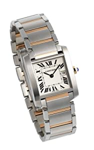 Cartier Midsize W51012Q4 Tank Francaise Stainless Steel and 18K Gold Watch image