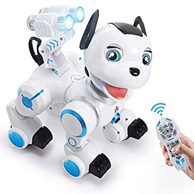 SGILE Robot Dog ,RC Dog Toy Interactive Intelligent Walk Sing Dance Programmable Robot Gift for Kids by SGILE
