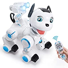 WHO AM I: Hello, little master! I'm a very adorable smart robot dog, and look like a real one. I can walk everywhere, bark and wink at you, and melt your heart. Oh, I am also obedient, following your command is my obligation. I can do anything you wa...