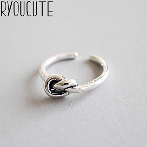 Echte pure 925 sterling zilveren sieraden Koreaanse Retro Love Heart Rings voor vrouwen Wedding Finger Open Ring Anillos Anelli