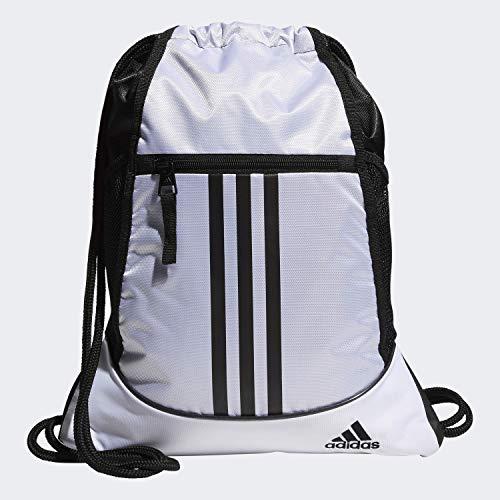 adidas Alliance II Sackpack, Unisex-Erwachsene, Tasche, Alliance Ii Sackpack, Weiß / Schwarz, Einheitsgröße