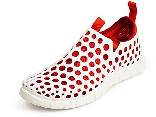 (ラプアカーマ) LAPUA KAMAA アウトドアサンダル スポーツサンダル サンダル アクアシューズ メンズ スニーカー メッシュ 2WAY 通気性 軽量 靴 M(24.5cm-25cm相当) ホワイト/レッド 赤色