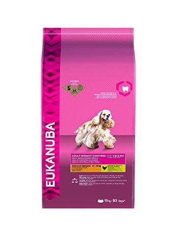 Eukanuba Weight Control Medium Breed - Fettarmes Trockenfutter zur Gewichtskontrolle mittelgroßer Hunde