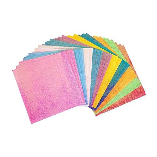 Gloryit 150 piezas Papel para Papiroflexia Color, Juego de Papel de Origami, Papel de Tarjeta de Colores Surtidos para hacer artesanías y proyectos de arte, rosas, animales flores, estrellas