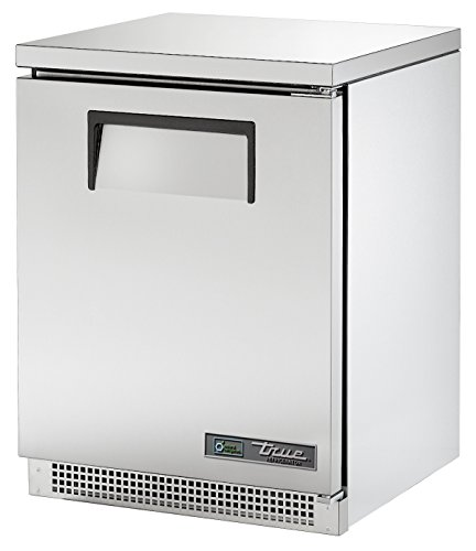 "True TUC-24-HC Undercounted Solid Door Refrigerator with Hydrocarbon Refrigerant, 31.625"" Height, 24.75"" Width, 24"" Length"