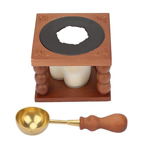 Cuchara de cera, cera de sello de sellado, horno de cera de sello resistente y duradero, para decorar sobres, invitaciones de fiesta, paquetes de boda