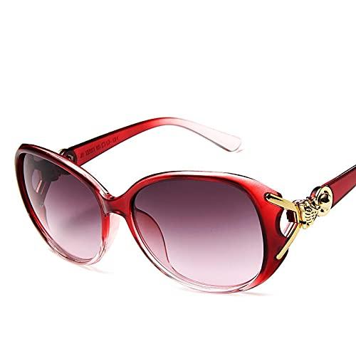 Gafas de Sol Sunglasses Gafas De Sol De Lujo para Mujer Gafas De Sol Vintage para Hombre Clásico Retro Plástico Fiesta Al Aire Libre Femme RojoAnti-UV
