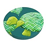 Breathable Stool Cover,Sweet Turtle Hugs with Heart in Teal Lime Green Barstool Seat Covers Elastic Stool Cushion Slipcover 12 Inch