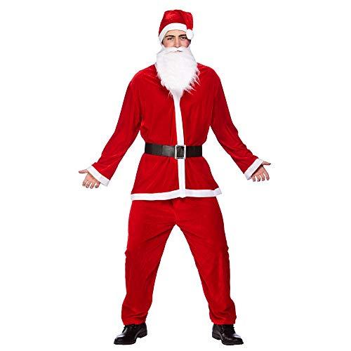 cappello babbo natale adulto takestop® Vestito Vestitino Uomo Taglia XXL Completino Costume Maschera Barba Cappello di Babbo Natale Adulto Elfo Festa Party