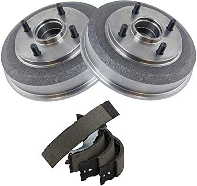 Rear Brake Drum Portland Mall and Shoe Kit F with 2000-2008 Super-cheap - Compatible