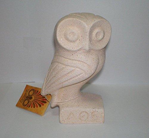 Búho de la sabiduría - Atenas - Escultura artística cicládica - Símbolo de la diosa Athena