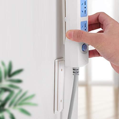 Selbstklebende Steckdosenleiste Fixator - Mehrzweck Punch-Free Wall-Mounted Desktop Socket Fixer Kabel Organizer