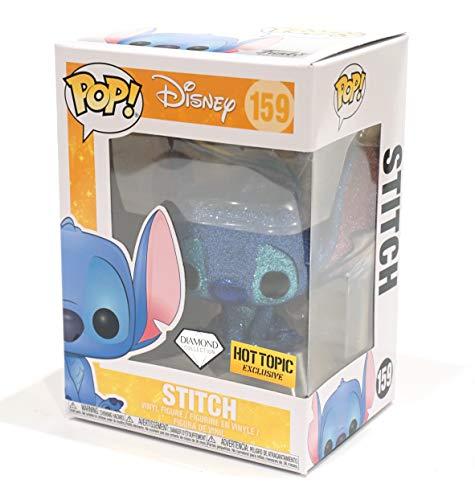 Funko - Disney Stitch Seated (Diamond Glitter) Figurina, Multicolor, 26038