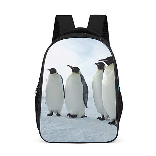 Mochila infantil duradera con diseño de pingüinos de animales, para niños y adultos, regalo para niños y niñas