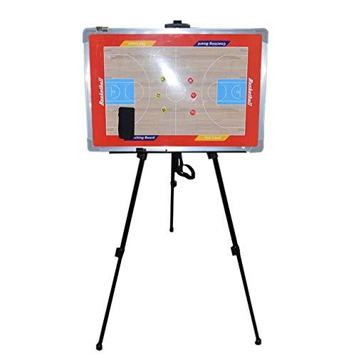 Basketbal Magnetische Coaching Board Whiteboard Met Display Stand, Marker Pen en Magneten - Opvouwbare en Draagbare Tactic Board Strategy Board Kit