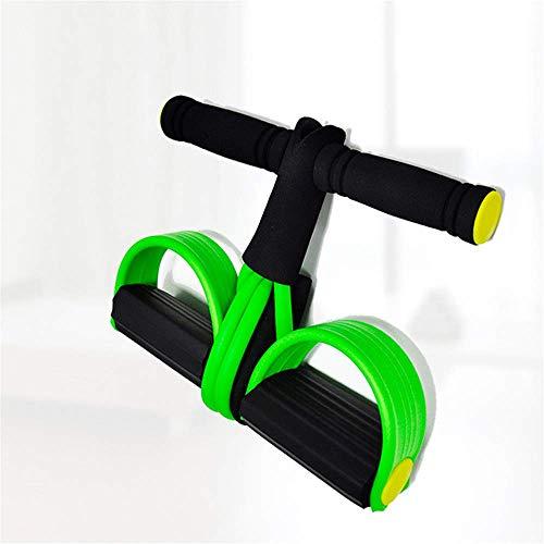 ZEH Tragbare Pedal Exerciser Bauch-Bein Übung Fuß Simulator Sportausrüstung Training Elastic Pedal Puller Tropfen, Grün FACAI (Color : Green)