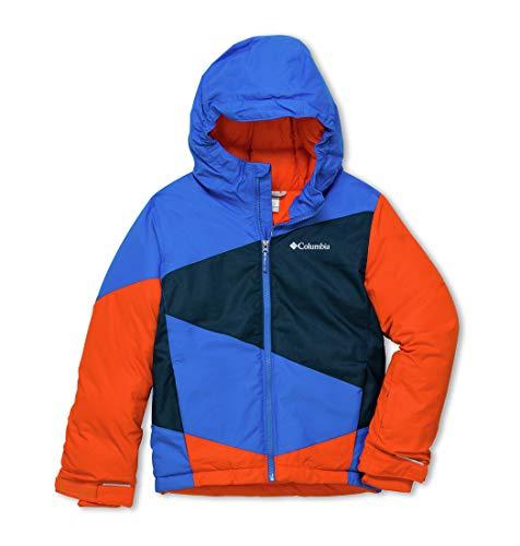 Columbia Jungen Ski-Jacke, Wildstar, Blau (Super Blue, Collegiate Navy Heather), M