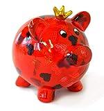 Pomme-pidou Cochon Peggy Rouge avec cœurs