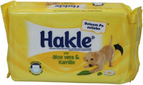 HAKLE feuchtes Toilettenpapier mit Aloe Vera & Kamille /45231 weiß Inh.42 Tücher
