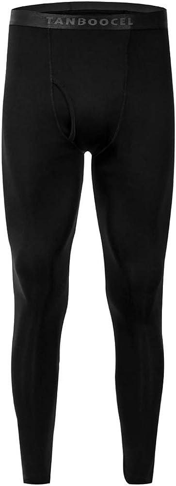 TANBOOCEL Bamboo Men's Thermal Underwear Pants Base Layer Bottoms Long Johns