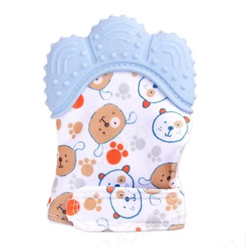 HUBA Kleinkinder Baby Handschuhe Beißring Spielzeug beissring für zum zahnen Natürlicher Kühlbeißring BPA-frei, Bunt