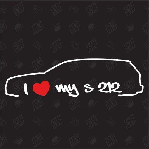 speedwerk-motorwear I Love My S212 - Sticker für Mercedes Benz Kombi, Bj. 09-16, E-Klasse