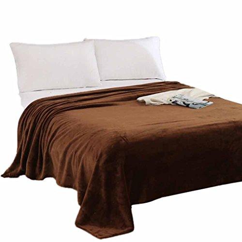 OVERDOSE Super Weiche Wärme Solide Microplush Fleece Decke Wurf Wolldecke Schlafsofa Fleece Blanket (70 * 100cm, B-Coffee)