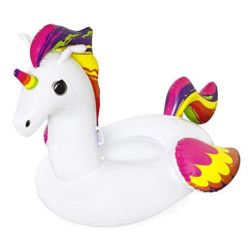 Bestway Fantasy Unicorn Rider Schwimmtier für Kinder, 150 x 117 cm, Bunt