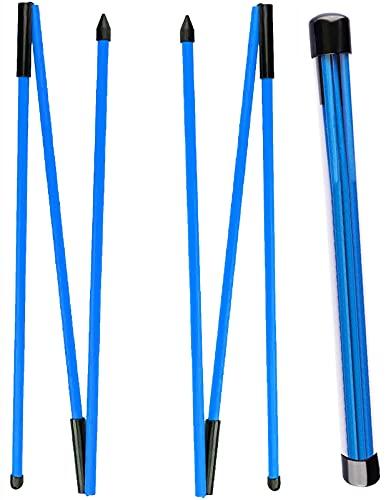 LOVMEAD Golf Alignment Sticks Set Wert 2 Stück, Golf Practice Aid Tour Rodz Übungshilfe Golfschwung Trainer Schwingtrainer, 3 Abschnitte Faltbare Trainingshilfe Sticks Golf Alignment Stix Set 123cm