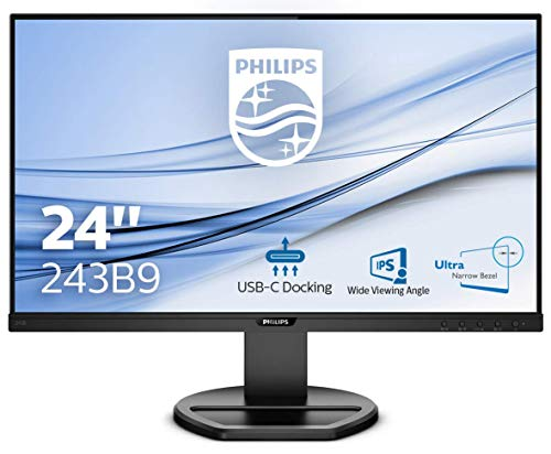 PHILIPS B-Line 243B9 LED-Monitor 61 cm 23,8 Zoll Nero (USB-C, IPS-Panel, Full-HD, Pivot, PowerSensor, FlickerFree)
