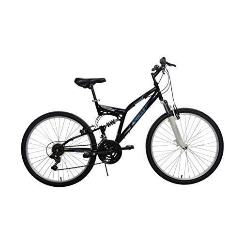Apollo Ghost Full Suspension Mountain Bike, 26 inch Wheels, 18 inch Frame, Men's Bike, Black