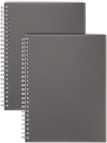 Miliko Notizbuch/Tagebuch, B5, liniert, Spiralbindung, 2 Stück pro Packung, 17,1 x 25,4 cm (liniert)