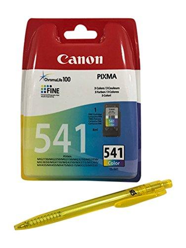 Original Druckerpatronen für Canon Pixma PIXMA MG2150, MG2250, MG3150, MG3250, MG3550, MG3650, MG4150, MG4250, MX375, MX395, MX435, MX475, MX515, MX525, MX535 inkl. Kugelschreiber (color)