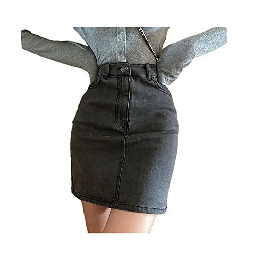 N\P Falda de las señoras Envoltura Caderas Verano Vaquera Retro Vintage Falda