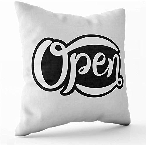 July Kissenbezüge skizziert offenes Türfenster als Logo-Etikett Icon Store Badge Bar Poster Banner