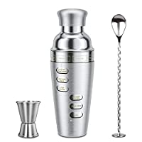 shaker per cocktail set cocktail blusmart set shaker boston in acciaio inossidabile strumento accessorio barra professionale kit per cocktail con shaker di guida per ricette (1)