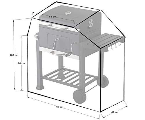 GRASEKAMP Qualität seit 1972 Schutzhülle Grillabdeckung zu EL Fuego Ontario Grill BBQ 300D PE transparent