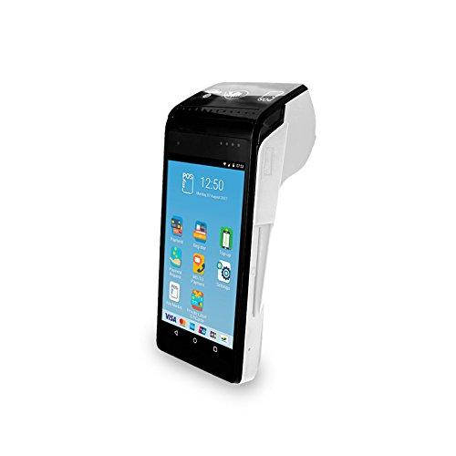 myPOS Smart N5 (White) Android Terminal POS pour tous les types de cartes, lecteur de carte bancaire sans contact à écran tactile avec imprimante intégrée et applications supplémentaires