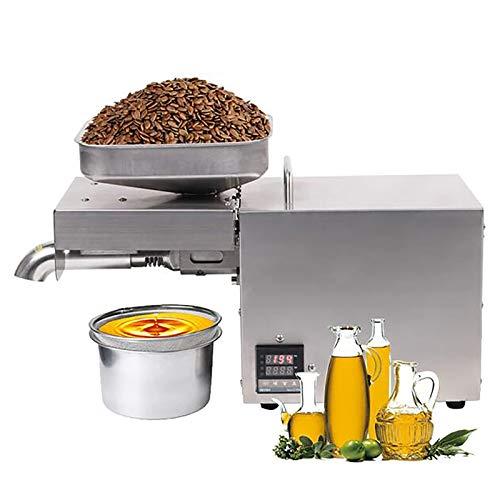 Máquina de prensado aceite Semillas nuez Extractor aceite oliva aceite eléctrico para aguacate Coco Lino Maní Castor Cáñamo Perilla Semilla Canola Sésamo Grado comercial 610W,110v