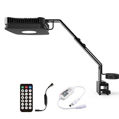 Lominie Aquarium Fish Tank Light con Control Remoto, 4 Canales Regulables para Acuario de Arrecife de Coral de Agua Salada, Compatible con Controlador WiFi (P80 Acqua Salata)