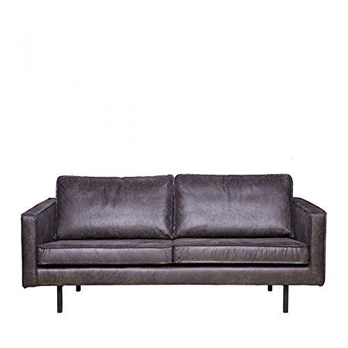 ESTO GmbH 2,5 Sitzer Sofa Rodeo Echtleder Leder Lounge Couch Garnitur Vintage schwarz