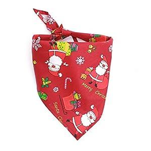 LAAT Foulard pour Chien - Noel pour Chien Chiot avec Collier pour Chat et Chat Bandanna pour Cravates Animaux de Compagnie