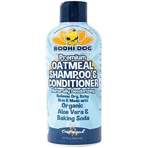 NEW All Natural Oatmeal Dog Shampoo | Hypoallergenic Conditioning Deodorizing Formula for Dogs Cats & Pet | Treatment Wash Sooth Dry Itchy Skin | Relieving Aloe Vera, Vitamins & Conditioner