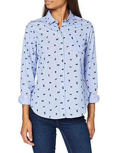 Springfield Camisa Floc Flo-c/10 Blusa, Azul (Navy 10), 36 (Tamaño del Fabricante: 36) para Mujer