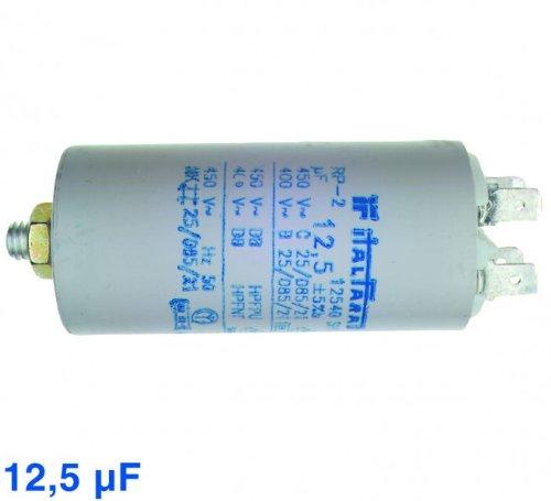 Kondensator 12,5µF, 450V Steck, passend zu Geräten von:Bauknecht Philips Quel...