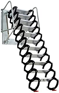 Attic Ladder Heavy Duty Telescopic Folding Stairs, loft Ladder Pulled Down Aluminum Material Design 660lb