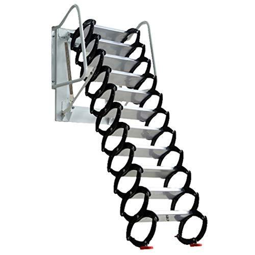Attic Ladder Heavy Duty Telescopic Folding Stairs, loft Ladder Pulled Down Aluminum Material Design 660lb